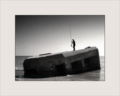 2004 Somewhere in Tunisia (piontrhouseselski) Tags: africa tunisia bw fishing history war