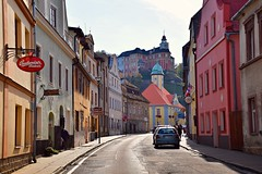 Javorník (JoannaRB2009) Tags: javorník czechrepublic town houses buildings architecture colourful street tower castle townshall old historical summer