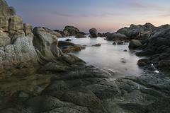 Ah gli scogli che passione ! (nicolamarongiu) Tags: landscape paesaggio scogli rocce acqua longexposure lungaesposizione sunset sea tramonto calacipolla chia sardegna italy bellezza calm effettoseta