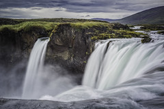 Godafoss (Wim van de Meerendonk, loving nature) Tags: godafoss iceland water waterfall waterfalls clouds cloud dynamic falls landscape mountain nature outdoors outdoor rock rocks river sony sky scenic wimvandem wild golddragon astoundingimage