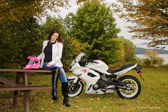 Jen At The Quabbin II (Peter Camyre) Tags: kawasaki bike motorcycle girl lady female rider quabbin reservoir belchertown ware ma mass massachusetts peter camyre photography custom paint boots jeans blue bluejeans canon 5d mkiii saturday autumn fall leaves foliage new england october 6 2018 model fashion beauty beautiful pretty color colors fliclr groups lovely glamor vogue pose posing