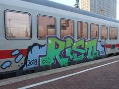RIST (mkorsakov) Tags: dortmund hbf bahnhof mainstation graffiti piece zug train ic intercity bunt colored