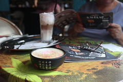 2018-9-25 Cherry-Lychee cappucino at Cafe Frei