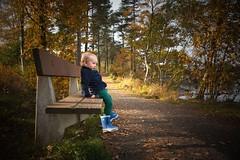 Child+Autumn=♡ (anek07) Tags: autumn child autumnleaves leavs alvin saturday october sun boy bench path