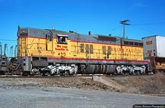 The Clearfield Switcher (jamesbelmont) Tags: railway clearfield utah freeport unionpacific sd7 emd trailer