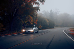 Porsche 911 Carrera | Autumn Drive (Peter Nowacki) Tags: porsche 911 porsche911 997 9972 carrera 911carrera porschecarrera bcracing coilovers suspension autumn fall trees fog foggy road bc racing 911silver platinumsilver sigma sigma50mm 50mmf14