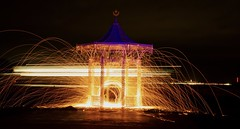 Bandstand (Sarah Marston) Tags: southsea portsmouth bandstand light painting wirewool sony alpha a77 night sparks lighttrails ferry