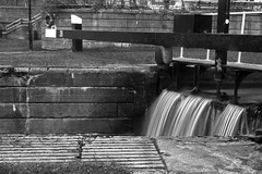 Lock 38, Forth and Clyde Canal, Bowling (Joe Son of the Rock) Tags: canal lock forthandclydecanal bowling longexposure blackandwhite monochrome lock38