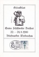 Deutsche Briefmarken (micky the pixel) Tags: briefmarke stamp ephemera deutschland bundespost berlin modellleuchte laterne lantern gedenkblatt dorffest schiffweiler saarland dorfdiener ausscheller