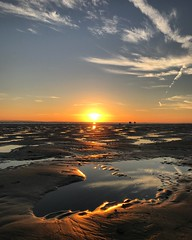 Rock Pool Sunset (Marc Sayce) Tags: rock pool sunset sundown sand beach low tide west wittering sussex autumn october 2018