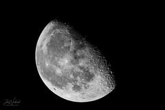 Moon October 29th 2018 Waning Gibbous 69% Illuminated (John Woodward Photography) Tags: moon waning waninggibbous night nightsky canon canondslr canoneos canon5dmarkiv
