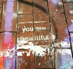 You are beautifully dirty (JocelynNoyes) Tags: streetart street art spraypaint spray paint bricks dirty cambridge graffiti