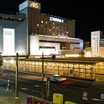 Full view of Akita Station West Exit Bus Terminal (秋田駅西口バスターミナル)