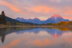 Oxbow Bend Sunrise (Michael Rickard) Tags: wyoming moran mtmoran oxbowbend tetons grandtetonnationalpark reflection
