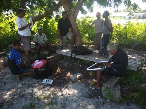 Pelatihan monitoring lamun Pante deere 1