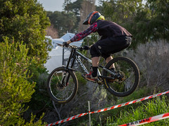 In flight (Man+machine) Tags: mountainbikes southernmtb pushbikes albany amazingalbany