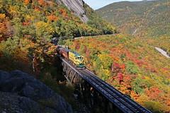 Hart's Location, New Hampshire (UW1983) Tags: trains railroads conwayscenic passengertrains bridges willeybrooktrestle fallcolors whitemountains crawfordnotch newhampshire