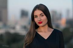 Golden hour magic (piotr_szymanek) Tags: marcelina marcelinab outdoor portrait face longhair woman young skinny skyline panorama sunset goldenhour eyesoncamera 1k 20f 50f 5k 100f 10k 20k 30k
