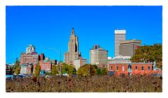 Cityscape (Timothy Valentine) Tags: 2018 clichésaturday buildings sky 1018 169 sunflowers city field providence rhodeisland unitedstates us large