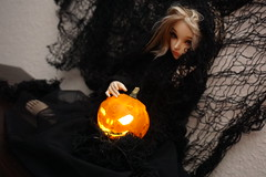 Happy Halloween (Jelezrael) Tags: doll bjd puppe sammlerpuppe fairyland minifee niella msd 14 happy halloween kürbis