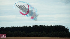 Red Arrows #2 - East Fortune 2018 (Chazzum) Tags: airshow airbus airplane aircraft east fortune eastfortune scotland national red arrows british german american wwii photography cold war mustang typhoon bronco texan mig15 museum