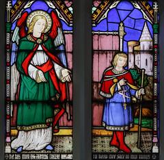Guardian Angel (Lawrence OP) Tags: saints woolhampton stainedglass window angel guardian rosary prayer