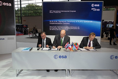 Signature Ceremony of PLATO Spacecraft Implementation Contract (europeanspaceagency) Tags: esa europeanspaceagency space universe cosmos spacescience science spacetechnology tech technology plato contractsignature signature iac bremen germany event exoplanets