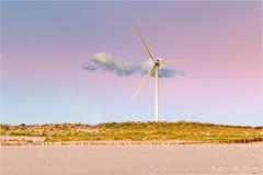 Not enough wind! (karindebruin) Tags: annemarie colors kleuren maasvlakte nederland sigrid thenetherlands zonsondergang zuidholland beach clouds sand strand sunset water wolken zand