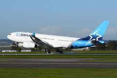 C-GUBH Airbus A330-243 EGPF 06-10-18 (MarkP51) Tags: cgubh airbus a330243 a330 airtransat ts tsc glasgow airport gla egpf scotland airliner aircraft airplane plane image markp51 nikon d7200 aviationphotography sunshine sunny