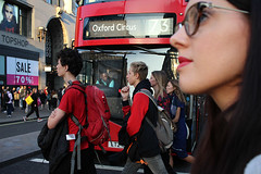IMG_8105 1000px (Paul Russell99) Tags: london bus oxfordstreet busdriver poster crossing