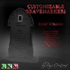 ღ ♡  Gravemarkers - Basic Fogger Dk by Page Creations™ ♡ ღ (Raven Page) Tags: halloween props decor mesh spooky scary fog pumpkins gothic goth