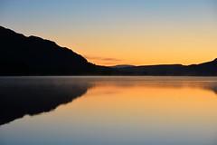 Golden hour (moniquerebanks) Tags: goldenhour sunrise dawn zonsopgang ullswater lakedistrict uk cumbria worldheritage lake meer merengebied nature reflections hills heuvels sonnenaufgang water nikond7100 natuur scenery capturingthemoment