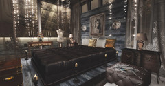 Leather and Lace.... (kellytopaz) Tags: virtual living n4rs refuge blueprint event shades bedroom leather lace second life