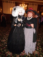 I Am Normally Considerably Taller Than Stephanie . . . (Laurette Victoria) Tags: laurette costume stephanieschultz milwaukee pfisterhotel victorian masquerade halloween wig