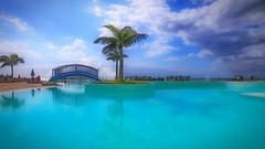 1.7 (endresárvári) Tags: tenerife pool water palm losgigantes clouds summer