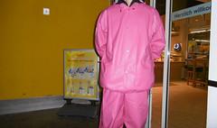pink rainwear (lulax40) Tags: rainwear gummi fetish rubberist rubberslave farmerrain regenkleidung rubberfetish rubbergear