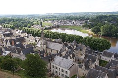 All the town roofs in same styles (Val in Sydney) Tags: chino forteresse castle france indreetloire medieval