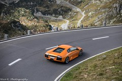 Lamborghini Murciélago (Nico K. Photography) Tags: lamborghini murciélago orange supercars rare view nicokphotography switzerland sustenpass