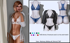 Leila lingerie set (DastardllyLingerie) Tags: mesh second life lingerie fashion chic lace lacy