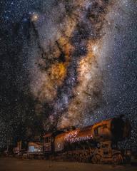 Trains (Valter Patrial) Tags: salar uyuni bolivia america night photography nightscape light people trains train milky way milkyway astrophotography