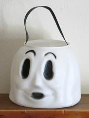 Vintage Empire Blow Mold Ghost Halloween Trick-or-Treat Bucket (hmdavid) Tags: vintage halloween empire blow mold trickortreat bucket ghost boo palmolive fresno