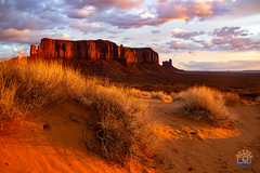sunrise on the dune (Michael Kenan) Tags: 48thstatephotography monumentvalley october arizona az camping desert landscape mkenanphotography wilderness native american navajo tribal monument northern weather sunrise clouds morning