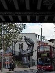 Walthamstow street art (Richard and Gill) Tags: streetart roa walthamstow walthamforest mural stjamessstreet e17 london art badger bird tescoexpress