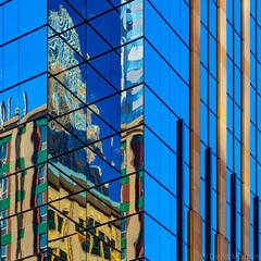 Minneapolis Reflections (David M Strom) Tags: olympusem1markii skyscraper olympus12100 minneapolis reflections architecture minimal windows olympus40150 abstract davidstrom