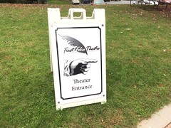 first folio theatre. theater entrance (timp37) Tags: sign illinois oak brook october 2018 mayslake peabody estate madness edgar allan poe love story first folio theatre