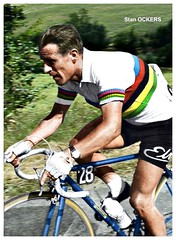 1956 TDF Stan Ockers (Sallanches 1964) Tags: stanockers tourdefrance 1956 worldchampionroadcycling rainbowjersey belgiancyclists