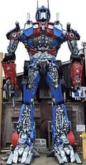 Optimus Prime (Will S.) Tags: mypics porthope ontario canada primitivedesigns art sculpture robot autoparts