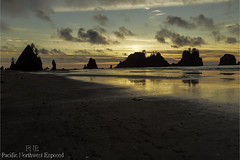 Point of the Arches 2356 (All h2o) Tags: sunset point arches shi beach ocean sea seaside coast olympic national park pacific northwest peninsula water sky clouds landscape sand