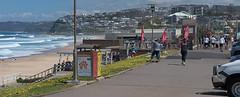 Lunch break seaside (OzzRod (catching up)) Tags: pentax k1 smcpentaxk135mmf25 coast seaside surf waves beach promende walkers urban barbeach newcastle