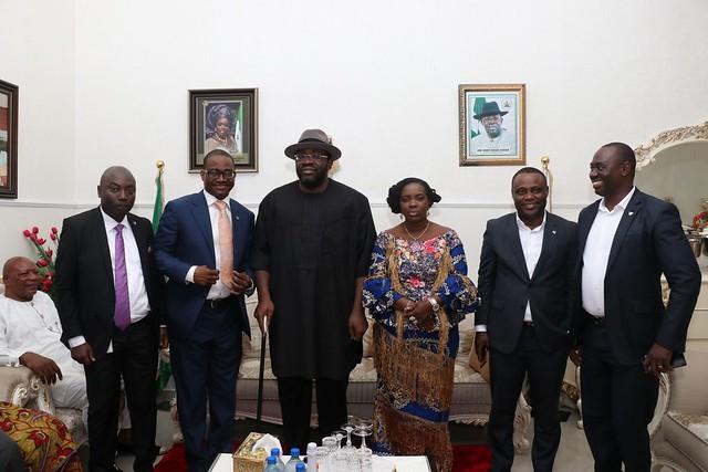 HSDickson- Condolence visit by Wema Bank.5th September 2018